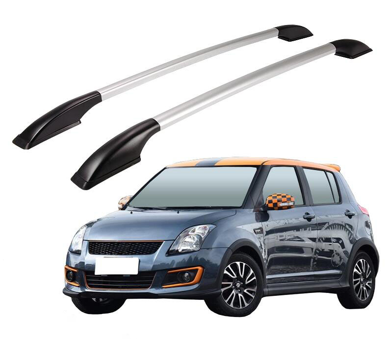Roof Rack Boxes Side Rails Bars Luggage Carrier A Set For Suzuki Swift 2005-2014 2006 2007 2008 2009 2010 2011 2012 2013 for suzuki swift 2004 2013 accessories chrome door handle covers 2005 2006 2007 2008 2009 2010 2011 2012 car styling stickers