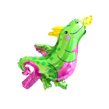 Mini Small fire dragon Animal Foil Balloons Birthday Party Decorations Kids Toys Baby Shower Party Dinosaur balloon(China)