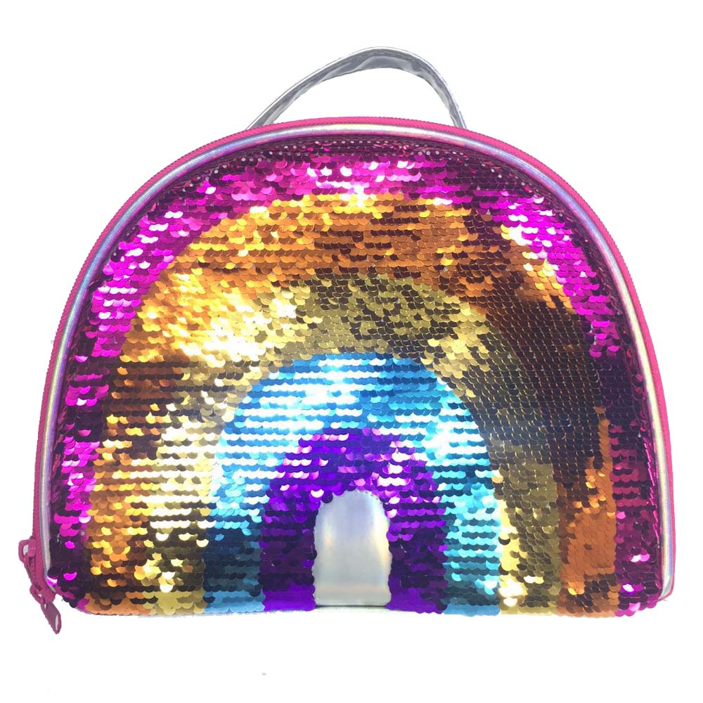 arco-íris moda casual escola tote para meninas crianças