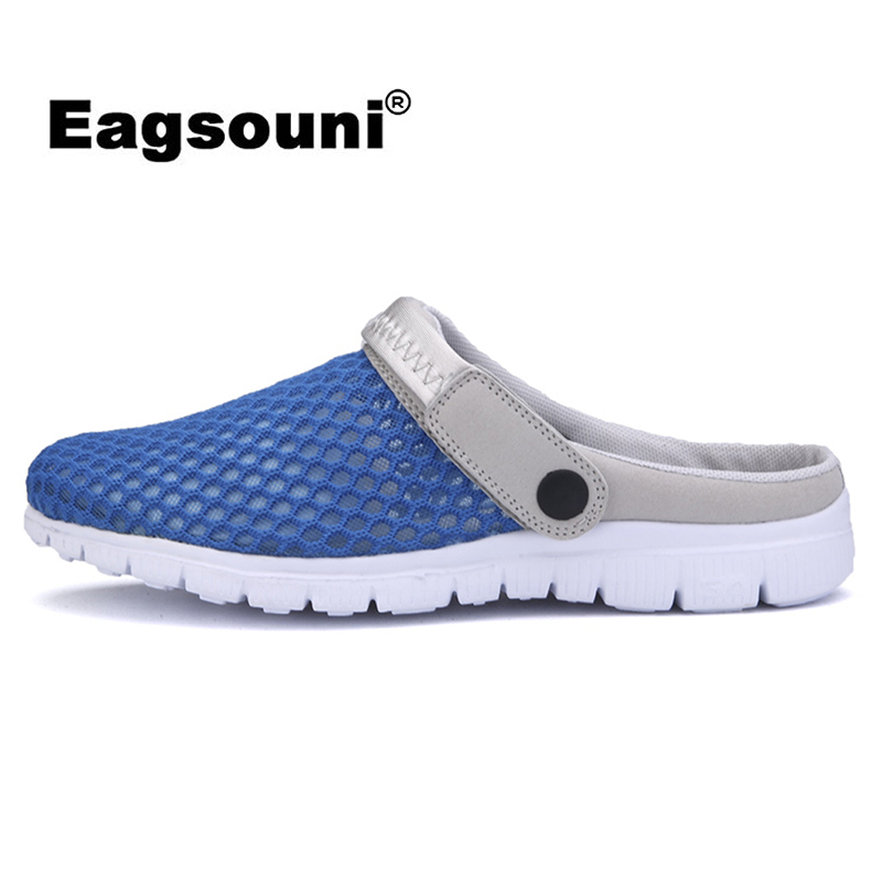 Eagsouni 2019 Summer New Men Mesh Sandals Ultra-light Breathable Couple Beach Men Shoes Casual Female Shoes