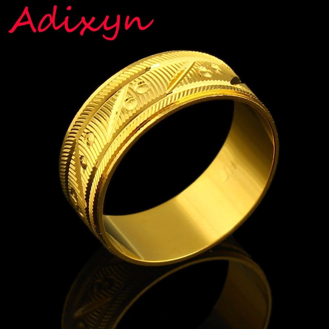 New Arrival Gold Rings For Women Men Gifts Color Wedding Bands Rotatable India