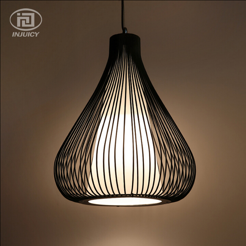 ФОТО Nordic Vintage Edison Industrial Simplicity Birdcage Droplight Wrought Iron Onion Restaurant Pendennt Lamp Cafe Bar Store Hall