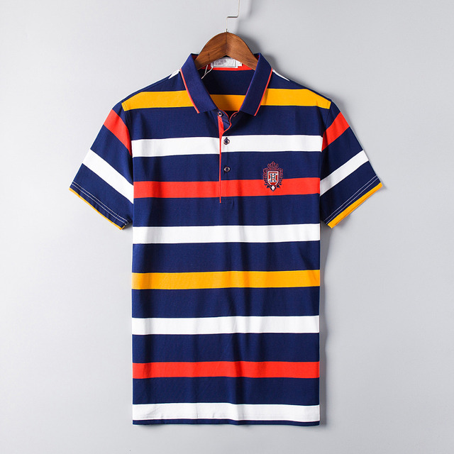 2016 Rushed Fashion Polo Homme High Quality Brand Men Polo Shirt New Summer Striped Cotton Men's Solid Ralp Camisa Plus Size