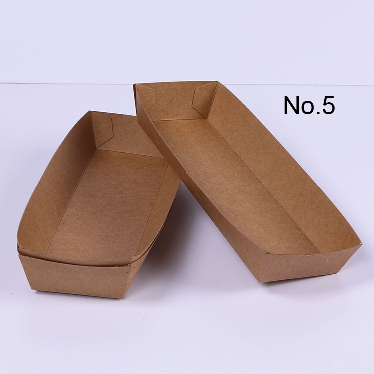 100PCS No.5, Eco Friendly Fried Chicken Popcorn Dessert Box,food package for party,hot dog/BBQ