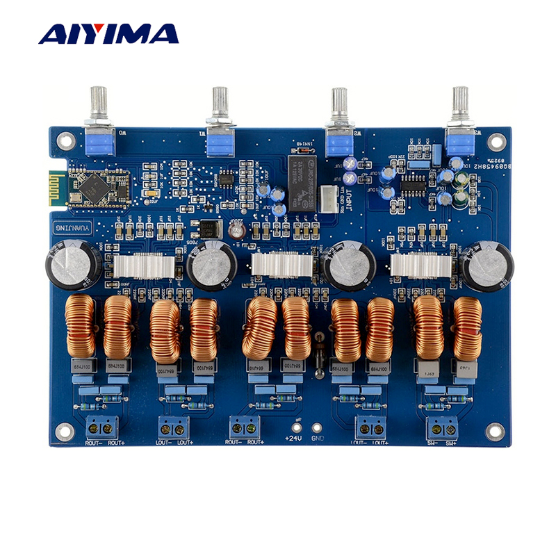 AIYIMA TPA3116 4.1 Bluetooth Amplifiers Audio Board Digital Class D Amplifier 4*50W+100W Amplificador Audio 24V Car Subwoofer