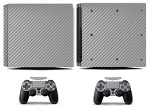 Silver Carbon Fiber PS4 Pro Skin Sticker Vinyl Decal