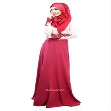 Vintage Kaftan Abaya Jilbab Islamic Muslim Women Long Sleeve Maxi Dress M L