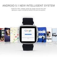 Z01 3G WCDMA Watch Phone Android Smart Watch 5MP Camera Heart Rate Monitor Pedometer Smartwatch WIFI GPS Intelligent Clock