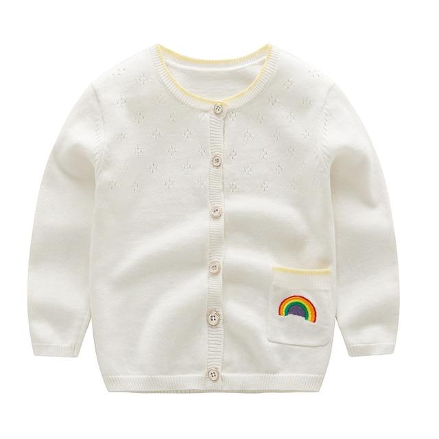a0a942d7c2a6 2018 Baby Girl Autumn Winter Cardigans Children Girls Knitted Cotton ...