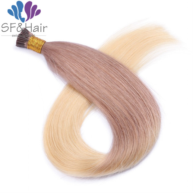 Balayage Color Hair On Capsules Fusion Hair Extensions Kertain I Tip Hair Extension Ombre Pre Bonded Remy Human Hair Extensions In Fusion Hair
