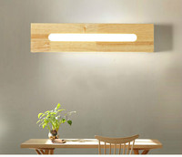 55 cm long Wood led wall lamp chinese style stair bathroom mirror light bedroom bedside lamp japanese style lamps, Haomer