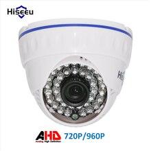 Hiseeu AHD 720 P 2000TVL 960 P 2500TVL ИК Мини Купольная Камера Аналоговый AHD камера крытый ИК CUT Ночного Видения Подключи и Играй для AHD DVR