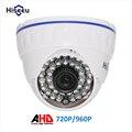 Hiseeu ahd 720 p 2000tvl 960 p 2500tvl ir mini domo cámara analógica ahd cámara de interior del IR CUT Visión Nocturna Plug and Play para AHD DVR