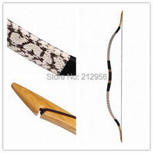 Longbowmaker Handmade White Snakeskin Longbow Recurve Horsebow Traditional Archery Bow 20-60LBS H1BS