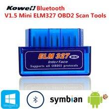 Bluetooth V1.5 ELM327 OBD2 Мини Умный интеллектуальный Диагностический авто интерфейс сканер инструмент проверка сканирования Датчик OBD 2 автомобиль-Стайлинг
