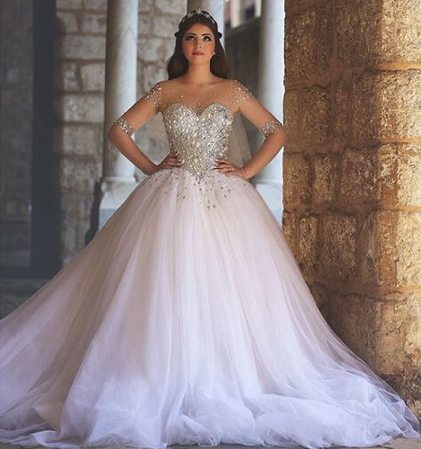 Crystal Ball Gown Wedding Dresses