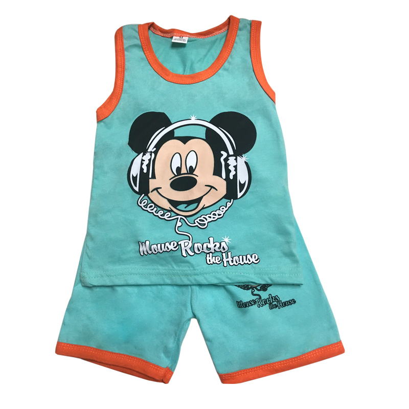 outfit Baby children's clothing vest suit cotton sleeve