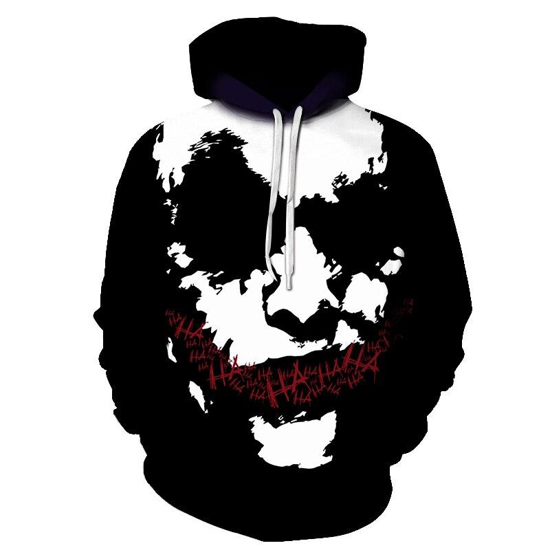 Haha Joker 3D Print Sweatshirt Hoodies Men And Women Hip Hop Funny Autumn Streetwear Hoodies Sweatshirt For Couples Clothes