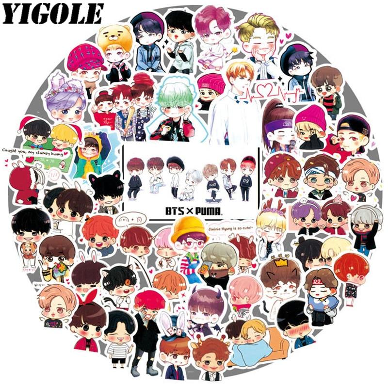 Stickers Sgdoll Kpop Bangtan Boys Jung Kook V Suga Jimin Facial Expression Decal Stickers Scrapbook 2019 New Fans Gifts Collection 24pcs