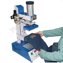 8 10cm Pyrograph Machine Leather Logo Pressing Machine Hot Stamping Machine Pneumatic Cap Heat Printing Machine