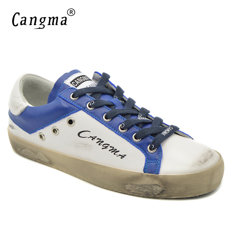 Sneakers Femmes Chaussure Appartements Bleu Retro Italie Minimaliste En Confort Rétro Et Cangma Blanc Retro Chaussures Véritable Original no Cuir Dames AZ8nRqx