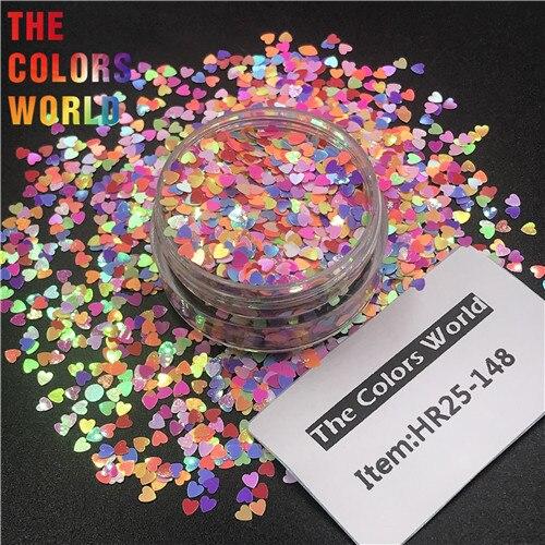 TCT-290 в форме сердца День Святого Валентина цвет блеск для ногтей художественное украшение макияж блеск для тела фестиваль DIY украшение аксессуар - Цвет: HR25-148    200g