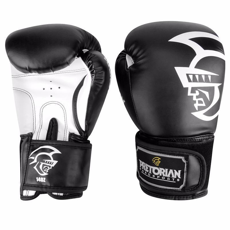 10 ออนซ์ 12 ออนซ์ 14 ออนซ์ 16 ออนซ์ยี่ห้อ PRETORIAN มวยไทยคู่มวยถุงมือเจาะ TKD MMA ผู้ชายต่อสู้มวยถุงมือ PU เตะถุงมือ