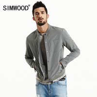 SIMWOOD Jacket Men 2019 Spring New Fashion Thin Coats Bomber Slim Fit Plus Size Outerwear Plus Size Brand Clothing WJ1665