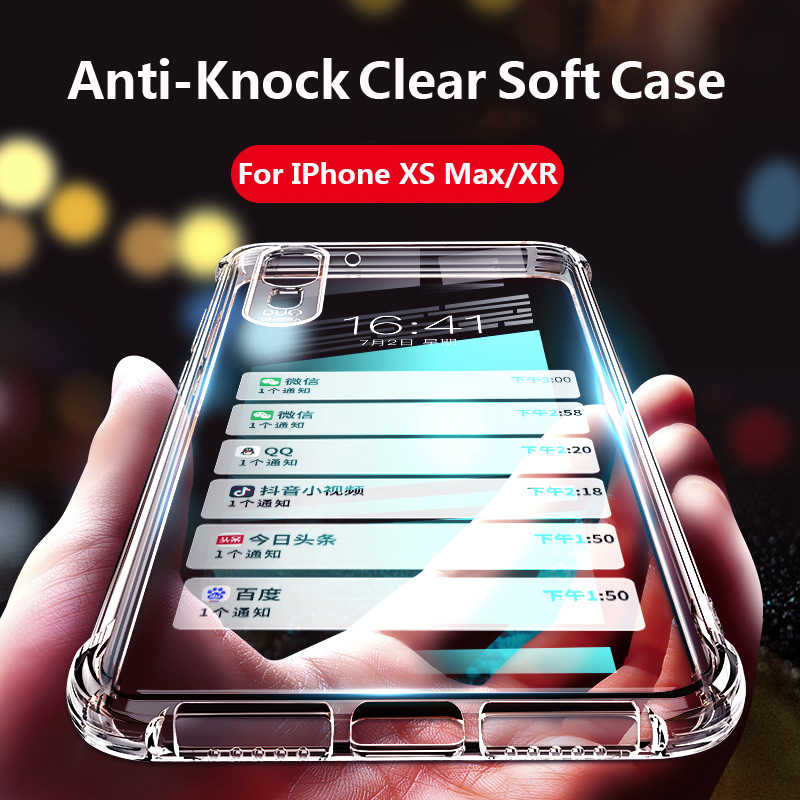 94a9d006c75 Case For Iphone XS Max XR Phone Case Silicone Transparent Clear Soft Funda  Coque Cover For