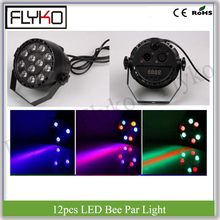 RGBW 12 stks bee ogen par licht 12 W tv show dj club professionele led par licht(China)
