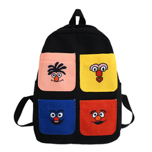 Купить с кэшбэком Feminina Female Mochila for Teenage Girls Bagpack cartoon Backpacks girl Travel Bags Women School Backpack Casual Sac A Dos