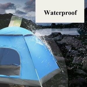 Image 2 - Di grandi dimensioni di tiro tenda esterna 3 4 persone automatico della velocità aperto lanciare pop up antivento impermeabile spiaggia tenda da campeggio grande spazio