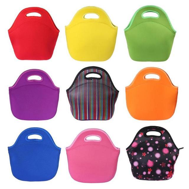 9 style Thermal Insulation Neoprene Picnic bag Waterproof Picnic Food Bag Tableware Picnic bag 2 Persons Food Thermal