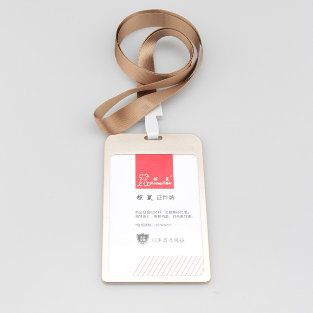 plus size metal frame badges id card holder with lanyards for cards