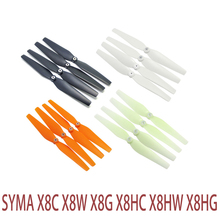 4PCS Green Luminous White Black Orange 7 Colors Blades Propellers Spare Parts for Syma X8 X8C X8C-1 X8W X8G RC Quadcopter Drone