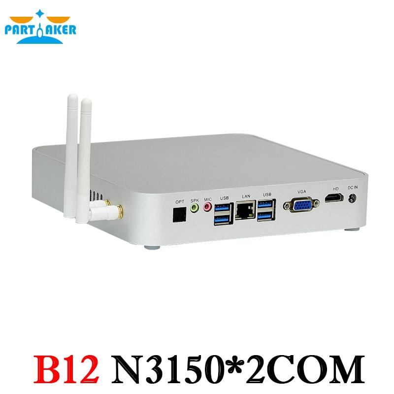 Partaker B12 Business Mini PC N3150 Windows Mini PC 12V VGA HDMI with Fan Mini Computer