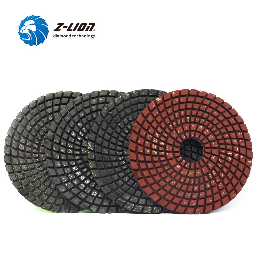 Z-LION 4pcs Metal Filling Polishing Pads 4