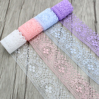 10y Lot Width 4cm Lace Ribbon DIY Embroidered Net Lace Trim Fabric For Sewing Decoration 050025080