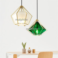Nordic LED Crystal Pendant Lamp Lighting Living Room Bedroom Simple Home Decor Pendant Lights Loft Hanglamp Kitchen Fixtures