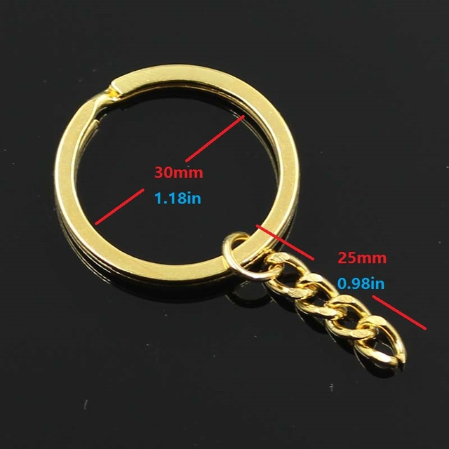 10 шт кольцо для ключей 3 цвета s золотистый цвет 30 мм