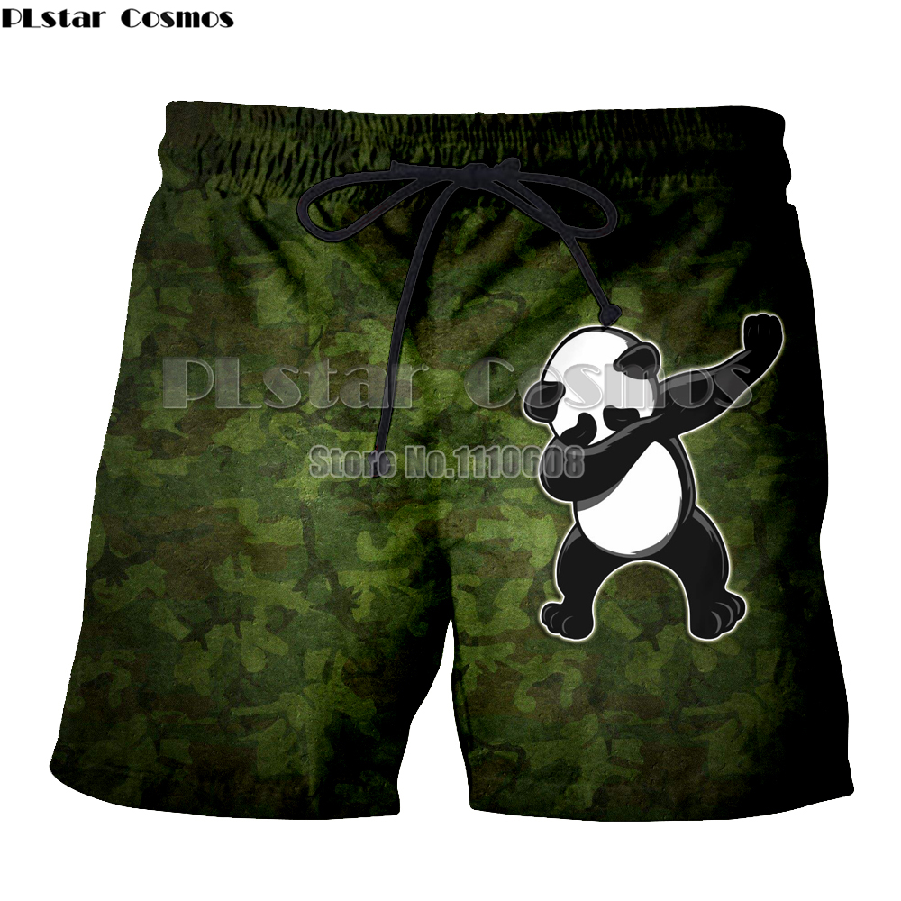 PLstar Cosmos Quick Drying 3D Animal Panda Printed Beach Board Shorts Men women Summer Boardshorts Boys Beachwear Short Trunks