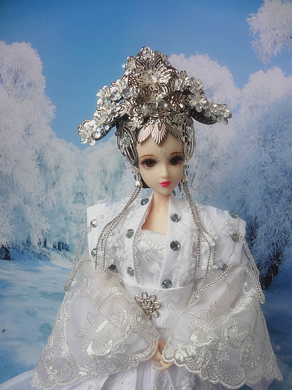 32CM Handmade Collectible Chinese Girl Dolls Ancient Costume BJD Doll With 12 Joints Movable Christmas/Birthday Gifts Toys 35cm handmade chinese dolls collectible ancient costume spring girl dolls with stand vintage season series bjd doll toys