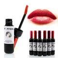 Popfeel Red Wine Lip Tint Matte Liquid Lipstick Set Lip Balm Batom Brand Makeup Nude Baby Lip Gloss Kit Batom Korean Cosmetics