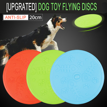 Dogs Silicone Outdoor Training Puppy Flying Discs Frisby Dog Fetch Toy Pet Disc Tooth Resistant