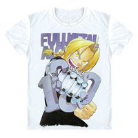 Japna Anime Full metal Alchemist Fullmetal Alchemist Camiseta Camiseta de la historieta Camisa Japonesa Regalo Nuevo Diseño 3D Camiseta de Manga Corta