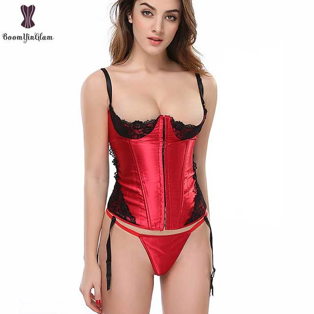 Plus Size Red Corset Lingerie  1