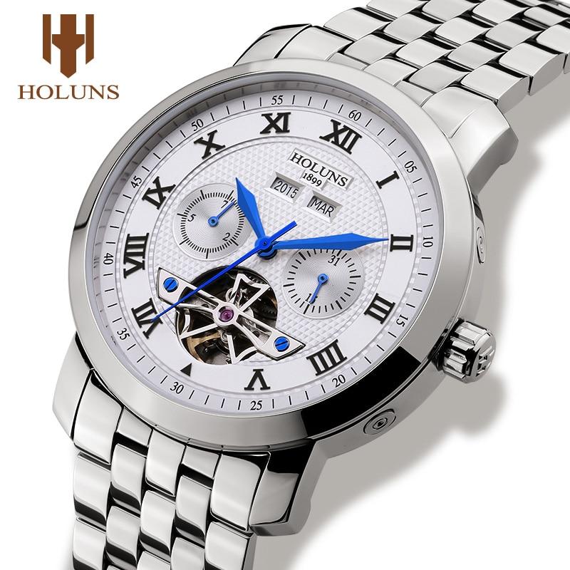 Holunsผู้ชายนาฬิกาแบรนด์หรูอัตโนมัติวิศวกรรมนาฬิกาข้อมือธุรกิจทหารชายกีฬาสแตนเลสRelógio Masculino-ใน นาฬิกาข้อมือกลไก จาก นาฬิกาข้อมือ บน   1