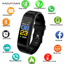 MAFAM Smart Bracelet Heart Rate Monitor Blood Pressure Monitor Fitness Watches Step Counter Message Push pk fitbits mi Band 2 3