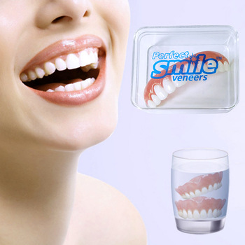 Professional Perfect Smile Veneers Dub In Stock For Correction of Bad Teeth Give You Perfect Smile Veneers Teeth Whitening 2pcs perfect smile veneers silicone denture smile false veneerd teeth whitening of veneer dub in stock for correction of teeth