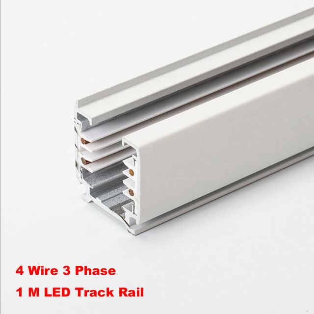 Black white 1m 3 phase circuit 4 wire track railtrack light rail black white 1m 3 phase circuit 4 wire track railtrack light rail connectors aloadofball Image collections